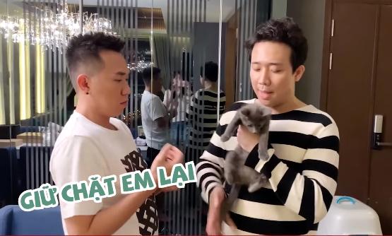 Hari Won và Trấn Thành khóc nức nở khi tặng bé mèo cho Anh Đức nhưng sự thật: Mừng quá, xong rồi. Đi thêm 1 đứa nữa