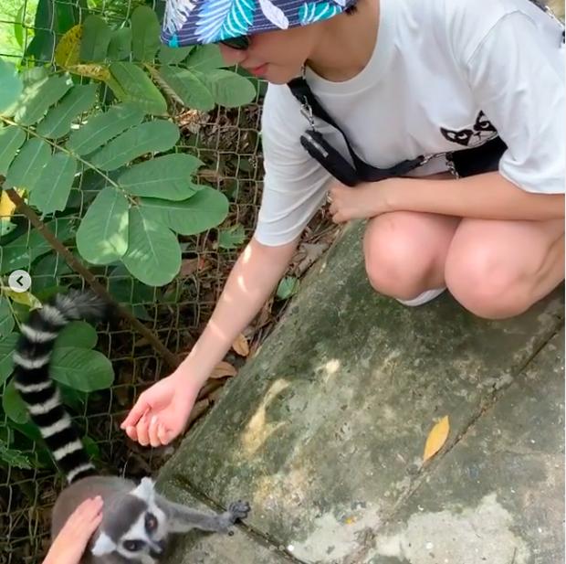 """Đáng yêu như Diệu Nhi khi đi vườn thú: """"Em muốn khóc quá anh ơi, nó có cắn em không anh ơi?!"""""""