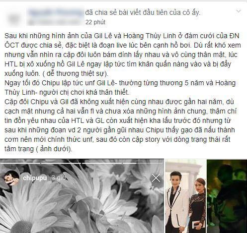 Nghi vấn Chi Pu tức giận unfriend Gil Lê và Hoàng Thùy Linh sau khi thấy ảnh thân thiết tại đám cưới Đông Nhi?
