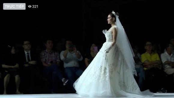 Minh Hằng diện váy cô dâu khoe nhan sắc rạng rỡ đầy cuốn hút khiến CĐM xao xuyến