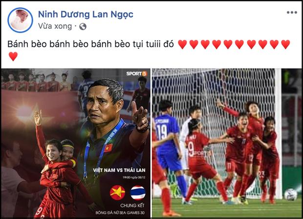 Chi Pu, Hòa Minzy cùng dàn sao Việt nô nức chúc mừng tuyển nữ Việt Nam giành HCV SEA Games 30