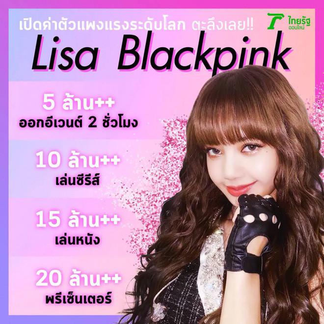 Hé lộ bảng giá cát-sê của Lisa (Black Pink), con số khổng lồ khiến ai cũng ngỡ ngàng