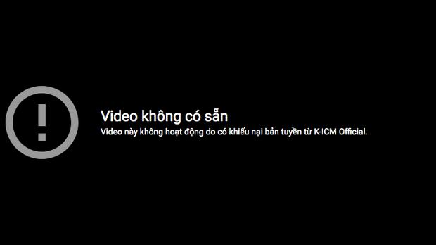Video Jack hát live Sóng Gió tiếp tục bị gỡ bỏ vì khiếu nại bản quyền từ công ty ICM