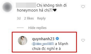 Quỳnh Anh chia sẻ lý do vẫn chưa đi tuần trăng mật cùng Duy Mạnh