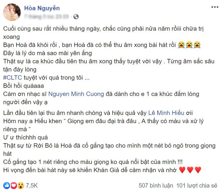 Im ắng suốt thời gian dài, Hòa Minzy đang chuẩn bị ra bài hát mới?