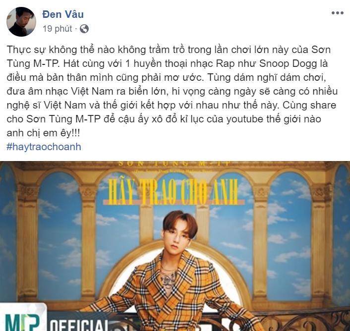 Loạt sao Việt phấn khích và tự hào trước MV Hãy trao cho anh của Sơn Tùng M-TP