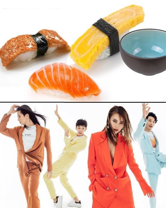 Đầu tư bộ ảnh cool ngầu, dàn Running Man lại bị liên tưởng đến một... đĩa sushi!