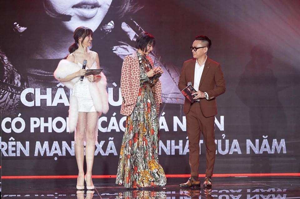 """Hari Won khiến ai cũng ngượng đỏ mặt vì gọi nhầm tên Châu Bùi cực """"nhạy cảm"""" ngay trong lễ trao giải thưởng lớn"""