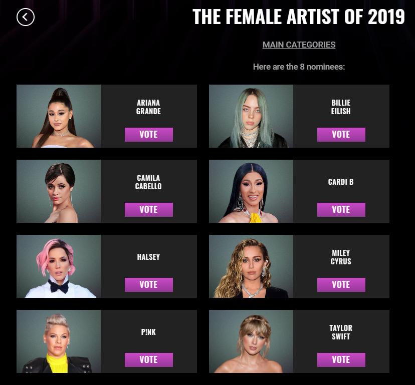 Đề cử Peoples Choice Awards 2019: BTS và BLACKPINK đối đầu ở 3 hạng mục, Ariana Grande thống trị danh sách