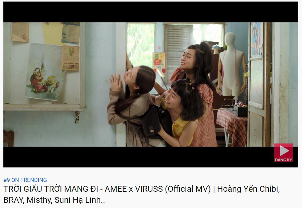 MV mới của AMEE tiến nhanh vào Top Trending: đúng là Jack, K-ICM và Quân A.P bị Top Trending YouTube thất sủng!