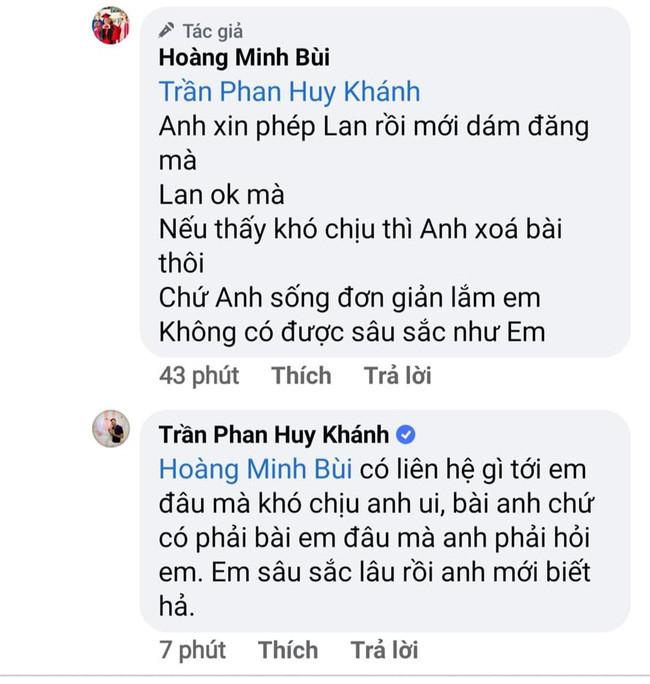 Diễn viên Huy Khánh và Hoàng Mập tranh cãi vì bài đăng liên quan tới Ngọc Lan cùng Thanh Bình