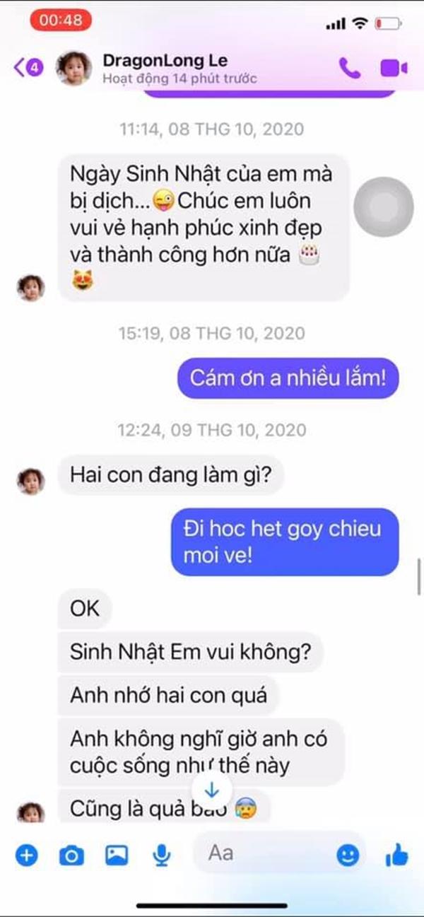 Xuất hiện tin nhắn Vân Quang Long nói nhớ vợ cũ Ái Vân, hối hận vì làm gia đình tan vỡ