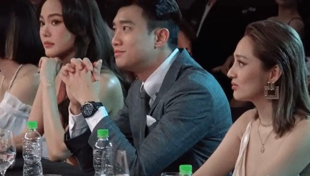 Bắt gặp Quốc Trường ngồi cạnh Minh Hằng nhưng lén trao ánh mắt đầy tình tứ cho Bảo Anh