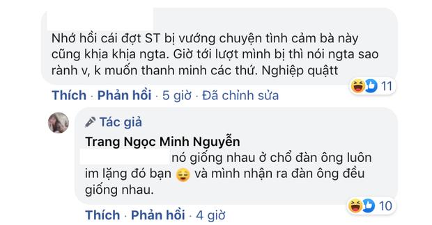Lương Minh Trang so sánh chuyện ly hôn với drama tình ái Sơn Tùng: Nó giống nhau ở chỗ đàn ông luôn im lặng