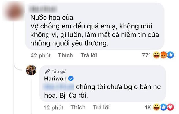 Bị netizen tố bán nước hoa đểu, gây mất niềm tin, Hari Won lập tức lên tiếng khẳng định 1 điều
