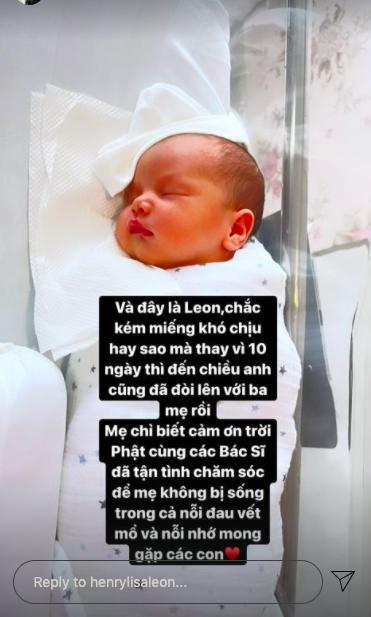 Ảnh sơ sinh cực hot của Lisa và Leon được Hồ Ngọc Hà đăng tải, kể chuyện thót tim khi hai con phải cắm ống thở vì sinh non