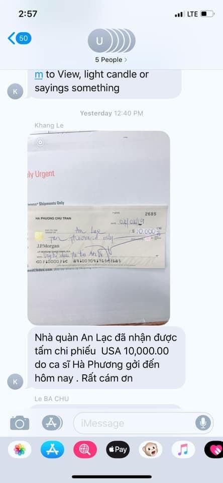 Bị đồn thổi nói được không làm được, em gái Cẩm Ly công khai biên nhận 10.000 USD giúp đỡ cố nghệ sĩ Anh Vũ
