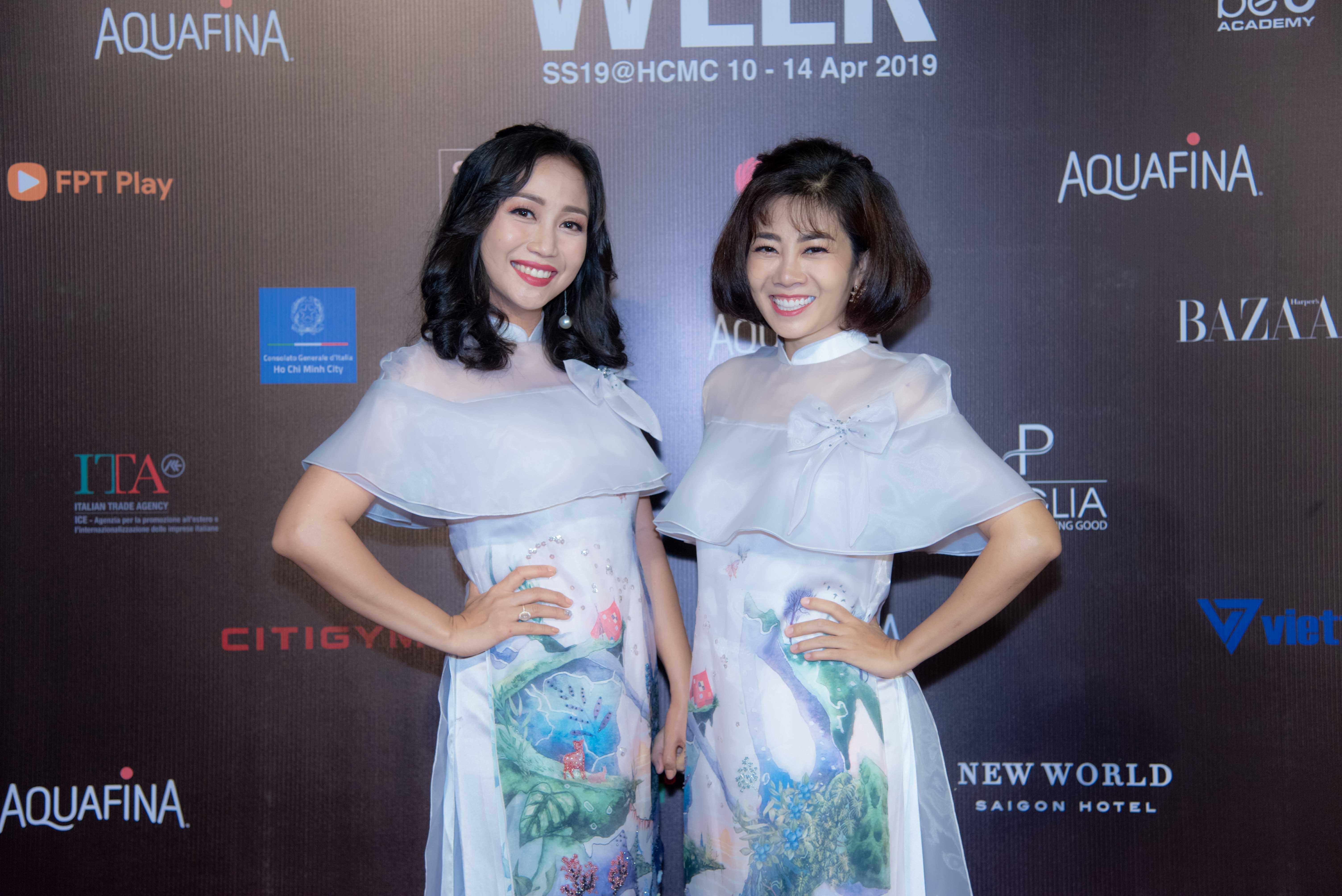 Dàn nghệ sĩ gạo cội tụ hội trên thảm đỏ Aquafina Vietnam International Fashion Week xuân hè 2019