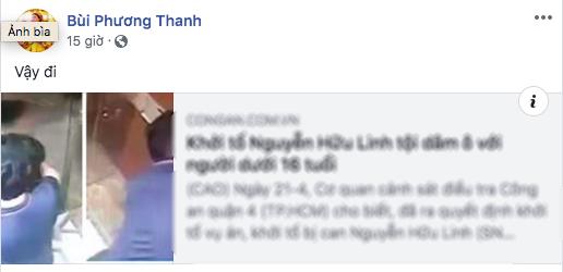 Phản ứng gay gắt của sao Việt khi thánh nựng Nguyễn Hữu Linh bị khởi tố