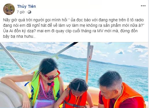 Bị đồn giải nghệ để tập trung chăm sóc cho gia đình, Thủy Tiên đính chính mai đi quay clip, cuối tháng ra MV mới