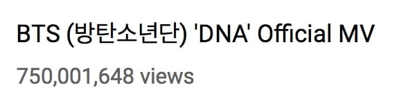 MV DNA âm thầm đạt kỉ lục mới, đưa BTS trở thành nhóm nhạc nam đầu tiên Kpop làm được điều này