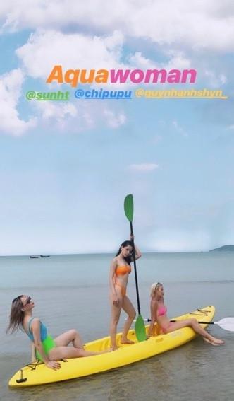 Bước sang tuổi mới, Chi Pu sexy hơn, khoe dáng cùng bikini táo bạo trên biển