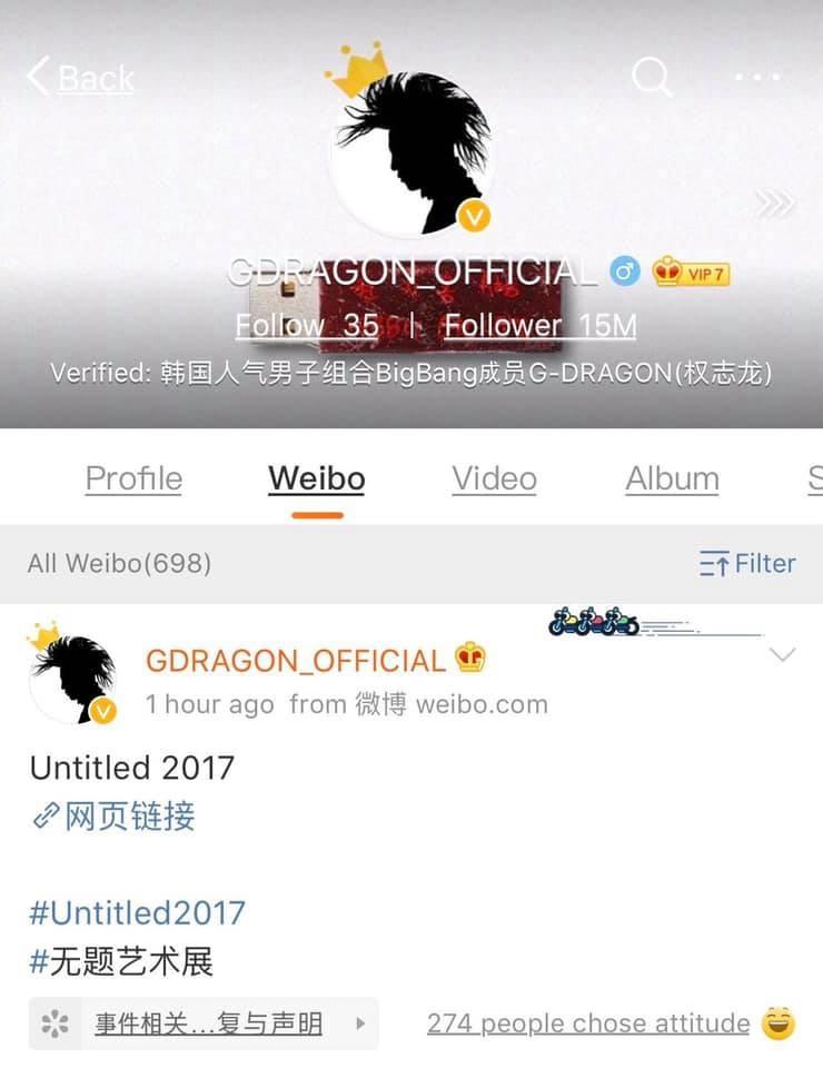 G-Dragon bất ngờ cập nhật Weibo, V.I.P rần rần khi thấy thần tượng xuất hiện trong kì quân ngũ