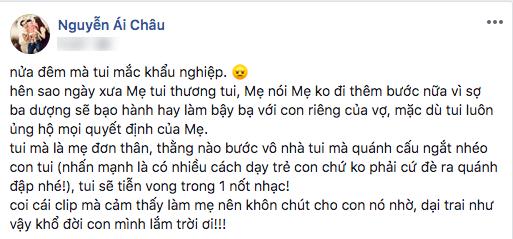Loạt sao Việt bức xúc khi chồng kém 10 tuổi có biểu hiện ngược đãi con riêng của Thu Thủy
