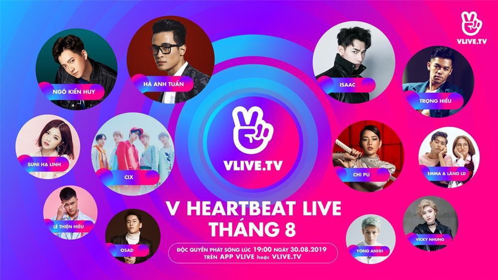 Lộ diện toàn bộ  dàn nghệ sĩ Việt tại sự kiện âm nhạc Việt - Hàn tháng 8