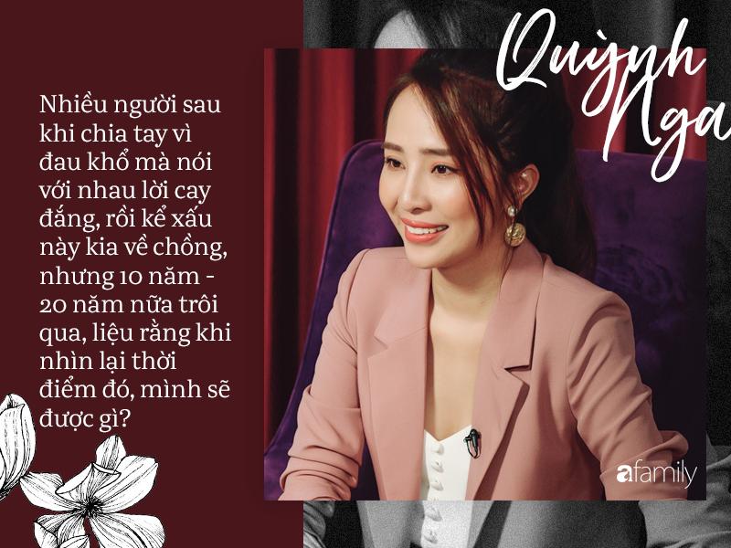 Quỳnh Nga chia sẻ: Tôi cãi lời bố mẹ để cưới Doãn Tuấn, vậy mà đến lúc ly hôn họ lại đến kéo vali đón tôi về nhà