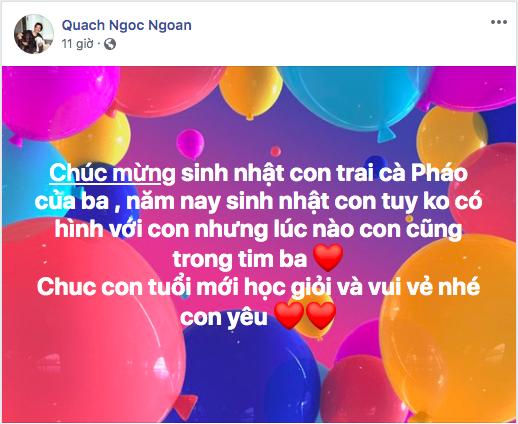 Quách Ngọc Ngoan không có hình để chúc mừng sinh nhật con trai, Lê Phương hạnh phúc trong kì nghỉ lễ với 2 thiên thần của mình