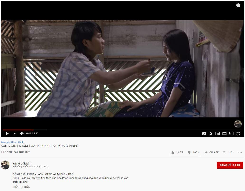 Buồn của Tùng: Sóng gió chính thức hạ bệ kỉ lục trăm triệu view Youtube của MV Hãy trao cho anh