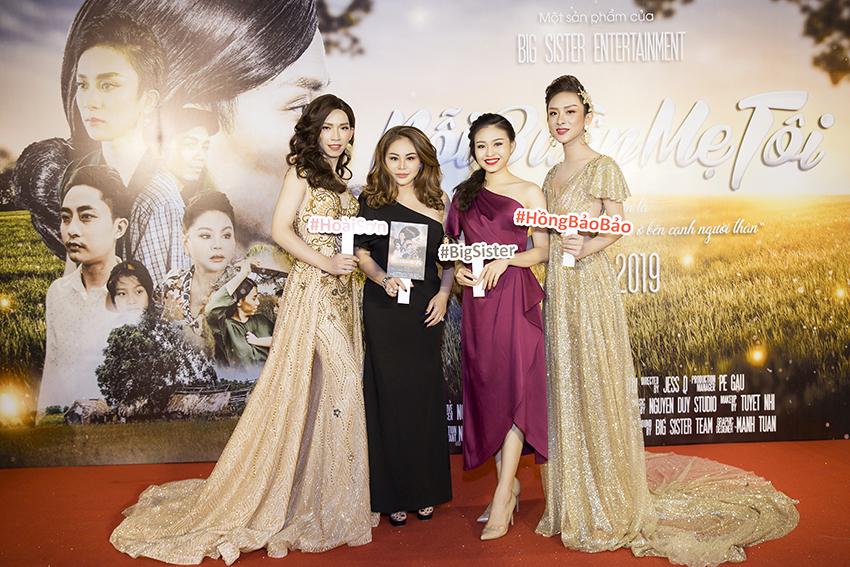 Mẹ con Lê Giang, Lê Lộc 'đội mưa' đến mừng Hồng Bảo Bảo, Hoài Sơn ra mắt phim ca nhạc đầu tay