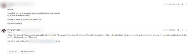 Bị tẩy chay vì chuyên cover, ekip của Hương Ly đăng tải tin nhắn cám ơn nghìn lần từ Erik