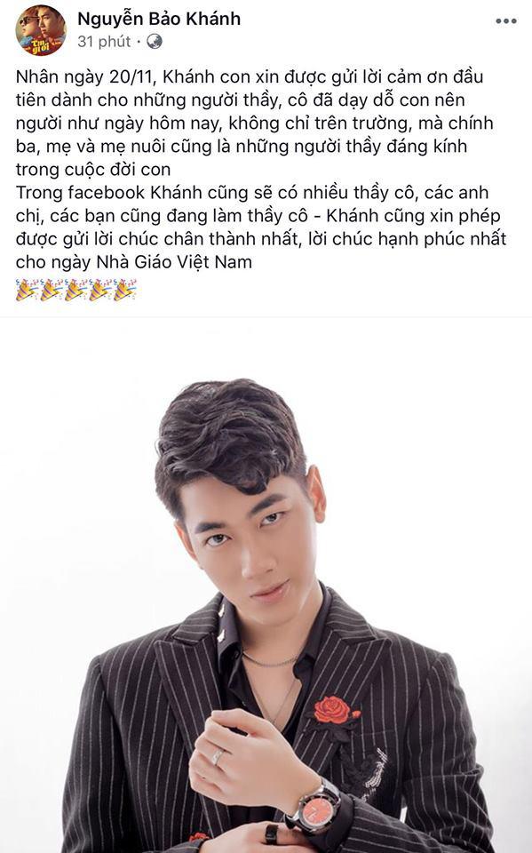 Sao Việt ngày 20/11: Jack và K-ICM gửi lời chúc trên facebook, Ngọc Lan diện áo tiết lộ về duyên với nghề giáo