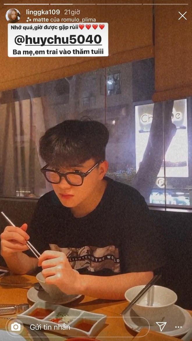 Linh Ka lần đầu tiên tiết lộ nhan sắc của cậu em trai ruột