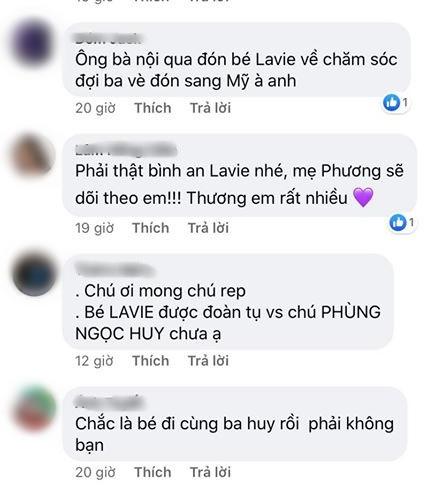 Quản lý Mai Phương đăng status gây chú ý: Có phải bé Lavie đã sang Mỹ đoàn tụ với bố Phùng Ngọc Huy?