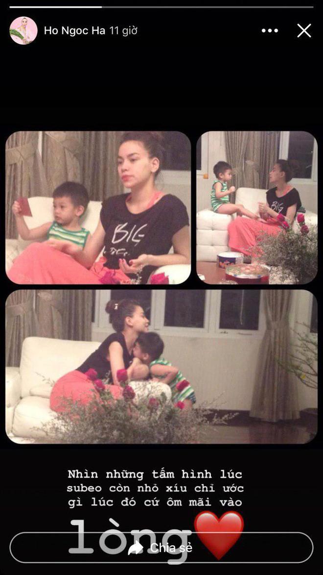 Giữa tin đồn mang song thai, Hồ Ngọc Hà chăm chỉ đăng tải khoảnh khắc ngọt ngào cùng con trai Subeo