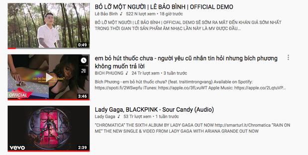 Tung demo ca khúc mới, Lê Bảo Bình vượt mặt hit của Bích Phương và siêu phẩm kết hợp của Lady Gaga - BlackPink