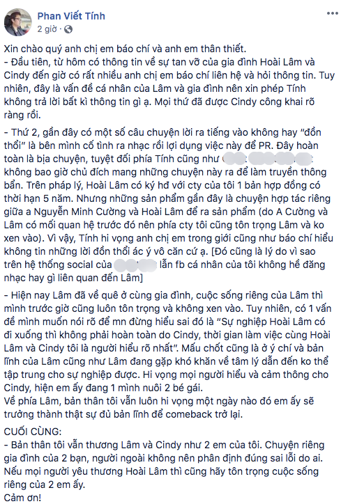 Đồng hương của Hoài Lâm lên tiếng về đoạn clip nam ca sĩ phụ bán tại quán nước