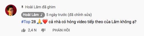 Khóa trang facebook sau ly hôn nhưng Hoài Lâm vẫn chăm chỉ cập nhật thành tích các ca khúc của mình