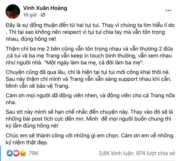 """Biến mới: Lương Minh Trang khẳng định bị Vinh Râu chặn Facebook, """"bóng gió"""" chồng cũ nói 1 đằng làm 1 nẻo?"""