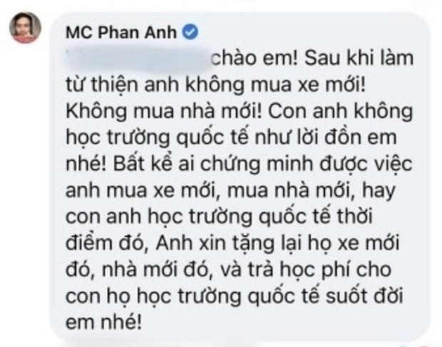 MC Phan Anh lên tiếng trước loạt tin đồn bị cấm sóng, tậu nhà đẹp, xe sang, con học trường quốc tế sau khi làm từ thiện