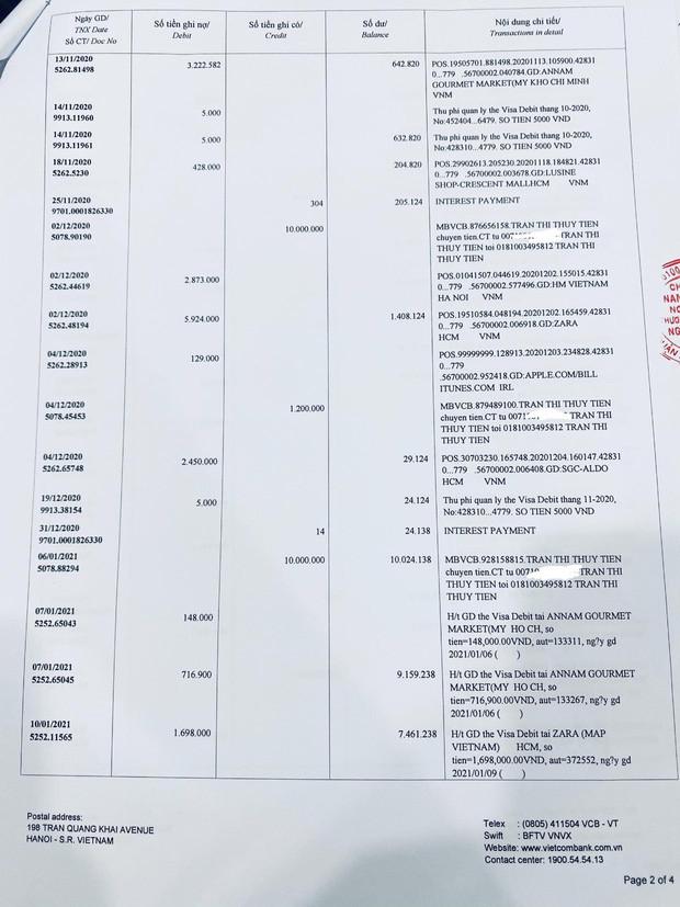 Thuỷ Tiên công bố 18.000 trang sao kê ngân hàng, làm rõ các khoản thu - chi và chốt 1 ý đặc biệt quan trọng