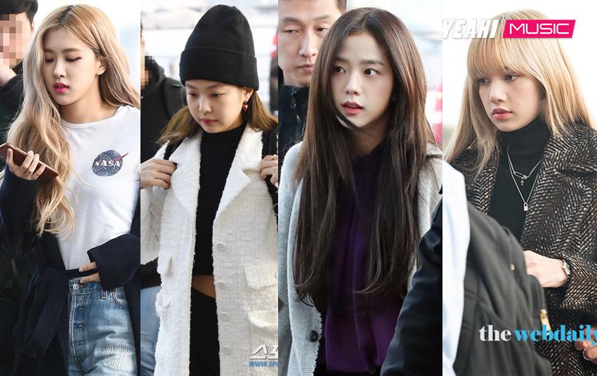 """Dàn mỹ nhân """"sang chảnh"""" nhà YG đổ bộ sân bay, Lisa và Jisoo lộ vẻ mệt mỏi sau thời gian bị Knet chỉ trích"""