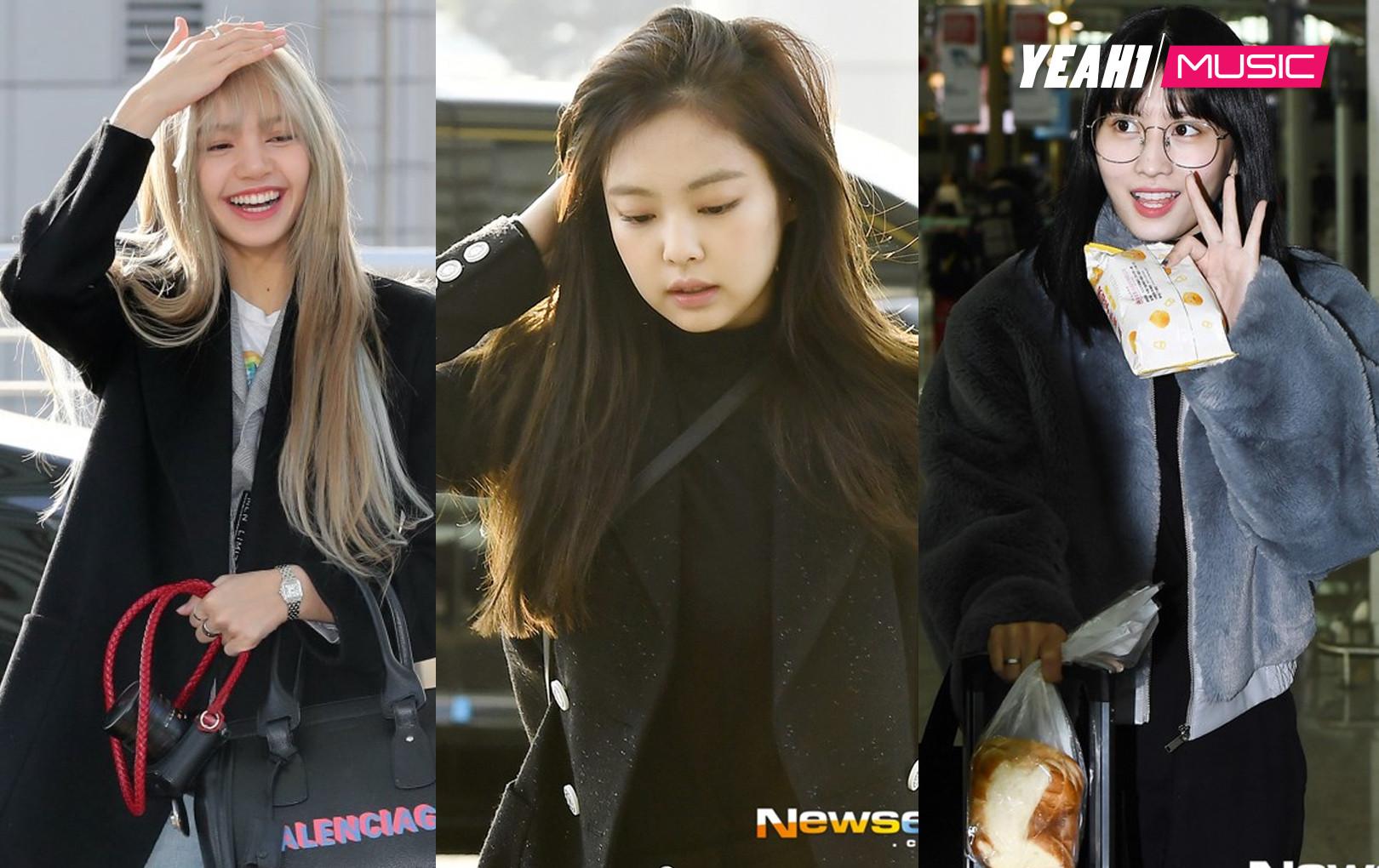 Dàn mỹ nhân đọ sắc thần thánh tại sân bay: Lisa xuất thần, Black Pink đẹp như đóng MV bên TWICE và chân dài đình đám