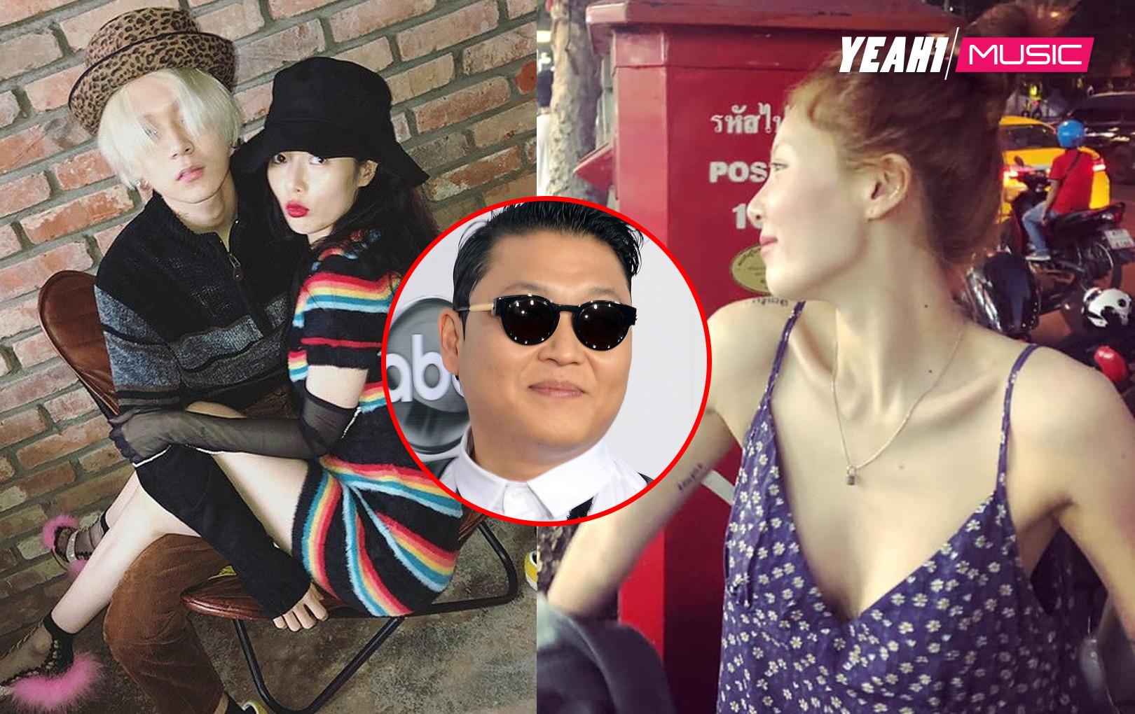 """""""Thả rông"""" đi hẹn hò cùng bạn trai, HyunA bị mỉa mai: """"Đừng để PSY đuổi như CUBE nhé"""""""